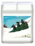 Christmas Day Scottie Style Duvet Cover