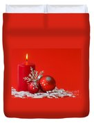 Christmas Decoration Background Duvet Cover