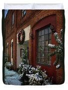 Christmas Decorations In Grants Pass Old Town  Duvet Cover