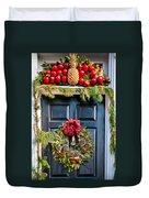 Christmas Door 8 Duvet Cover