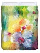 Christmas Flowers For Mom 01 Duvet Cover