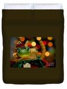 Christmas Frog Duvet Cover