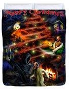 Christmas Greeting Card Duvet Cover