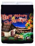 Christmas Greeting Card Iv Duvet Cover