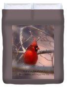 Christmas Greetings - Cardinal Duvet Cover