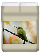 Christmas Humming Bird Duvet Cover