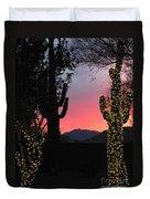 Christmas In Arizona Duvet Cover