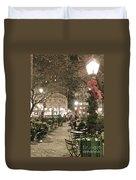 Christmas In Manhattan Duvet Cover