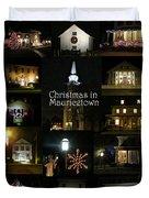Christmas In Mauricetown  Duvet Cover