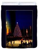 Christmas In New York Duvet Cover