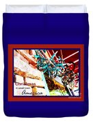 Christmas In Small Town America Duvet Cover
