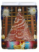 Christmas In The City Duvet Cover