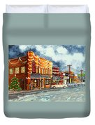 Christmas In Villa Rica 1950's Duvet Cover