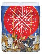 Christmas Journey Oil On Canvas Duvet Cover