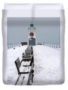 Christmas Lighthouse Duvet Cover