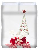 Christmas Mice Duvet Cover
