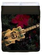 Christmas Music Duvet Cover