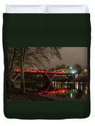 Christmas On Caveman Bridge Duvet Cover