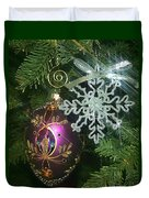 Christmas Ornaments 2 Duvet Cover