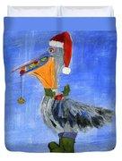 Christmas Pelican Duvet Cover