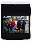 Christmas People Cold And Muddy Duvet Cover