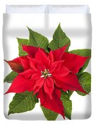 Christmas Poinsettia  Duvet Cover