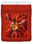 Christmas Poinsettia Duvet Cover