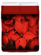 Christmas Poinsettias Duvet Cover