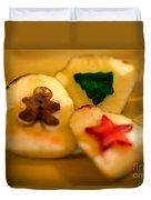 Christmas Potato Stamps Duvet Cover