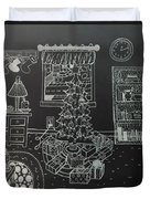 Christmas Scene Duvet Cover