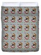 Christmas Seals 1981 Duvet Cover