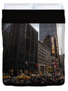 Christmas Shopping On The World Famous Fifth Avenue Duvet Cover