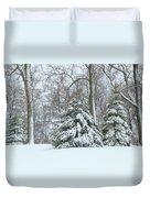Christmas Snow Duvet Cover