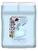 Christmas Snowman Duvet Cover