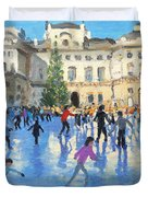 Christmas Somerset House Duvet Cover by Andrew Macara