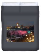 Christmas Spirit At Niagara Falls Duvet Cover