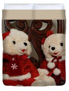 Christmas Time Bears Duvet Cover