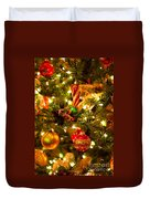 Christmas Tree Background Duvet Cover by Elena Elisseeva
