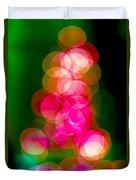 Christmas Tree Bokeh Background Duvet Cover