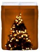 Christmas Tree Bokeh Duvet Cover
