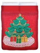 Christmas Tree Embroidered Duvet Cover