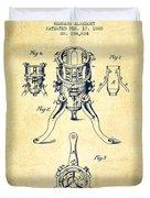 Christmas Tree Holder Patent From 1880 - Vintage Duvet Cover