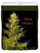Christmas Tree Lighting Duvet Cover