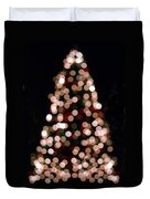 Christmas Tree Out Of Focus Duvet Cover