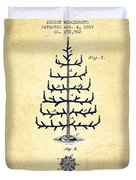 Christmas Tree Patent From 1882 - Vintage Duvet Cover