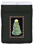 Christmas Tree Polkadots Duvet Cover