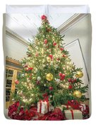 Christmas Tree  With Presents Tall Perspective Duvet Cover