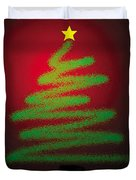 Christmas Tree With Star Duvet Cover