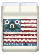 Christmas U.s.a. Duvet Cover