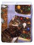 Christmas Visitor Duvet Cover